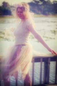 girl on a lake
